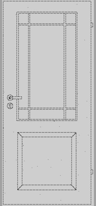 LEBO | Weisslacktür | Formelle 20 mit LA und Sprossenrahmen