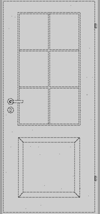 LEBO | Weisslacktür | Formelle 20 mit LA und 6er Sprossenrahmen